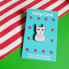 #Repost @hollycoral.designs  New in the shop! Feline the love cat pins!!  #pin #pins #pingame #enamelpin #lapelpin #cat #cats #catsofinstagram #catlover #catlady #catmama #kitty #feline #pun #feelingthelove #feelingloved #art #artist #etsy #etsyuk #pincommunity #pincollector #illustration #badge #flair #smallbusiness #independantartist    (Posted by https://bbllowwnn.com/) Tap the photo for purchase info.  Follow @bbllowwnn on Instagram for great pins patches and more!