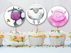 Farm Animals Topper, Birthday banner, Funny Banner, Farm Animals Banner , Animals banner Party Animals, Animal Party, Farm Birthday, Party Printables, Banner, Handmade Gifts, Funny, Etsy, Banner Stands