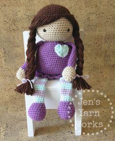 Crochet amigurumi stuffed doll *made to order*  -Jen's Yarn Works-