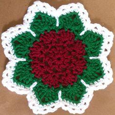 Best Free Crochet » #253 Flat Rose Dishcloth – Maggie Weldon Maggies Crochet