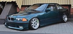 Boston green BMW e36 coupe on cult classic Ronal/ACT SX wheels