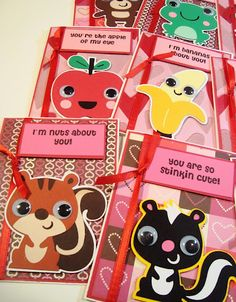 valentines day cards {Cricut-create a critter cartridge} My Funny Valentine, Valentines For Kids, Valentine Crafts, Valentine Day Cards, Valentine Activities, Holiday Fun, Holiday Cards, Create A Critter, Valentine's Cards For Kids