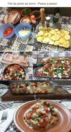 Filé de peixe ao forno... Muito simples!!!  :)