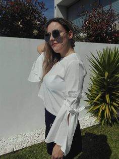 For girls: Look: Blusa Branca