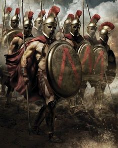 ⭐Spartan warriors the ultimate military badasses. Ancient Sparta, Ancient Rome, Ancient Greece, Greek Warrior, Fantasy Warrior, Greek History, Ancient History, Spartan Tattoo, World Of Warriors
