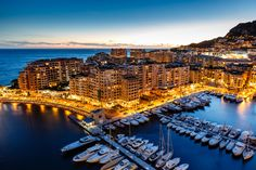 Lifestyle  aerial view on fontvieille and monaco harbor with luxury yachts french riviera
