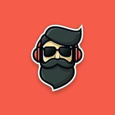 Beard Pilot designed by artism_studio Photoshop, Beard Logo, Arte Hip Hop, Dibujos Tattoo, Beard Art, Perfect Beard, Logo Concept, Cool Logo, Beard Styles