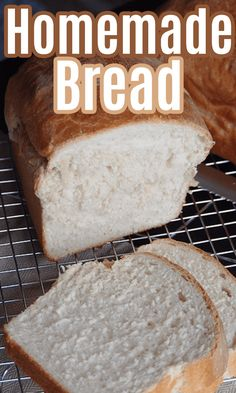 Homemade White Bread - mom makes dinner Homemade White Bread, Homemade Jelly, Easy Homemade Recipes, Easy Bread Recipes, Easy Dinner Recipes, Delicious Breakfast Recipes, Coffee Recipes, Slow Cooker Recipes, Comfort Foods