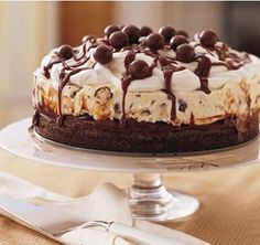 How to make ice cream cake with brownie