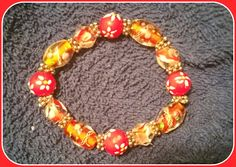 Glass beaded bracelet by chastytreasures on Etsy