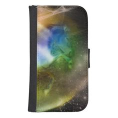 Galactic Unicorn Galaxy S4 Wallet Cases