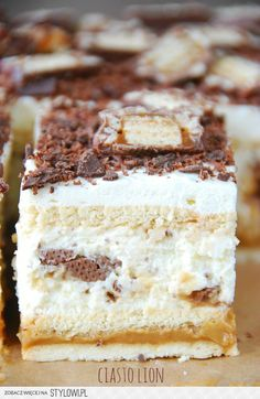 Dessert Cake Recipes, No Bake Desserts, Polish Desserts, Cheap Easy Meals, Best Food Ever, Pastry Cake, Homemade Cakes, Food Cravings, Baking Recipes