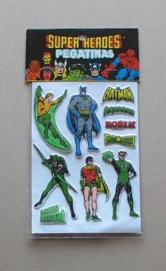 1979 Superhero Stickers DC Comics Batman Green Arrow Lantern Aquaman Vintage | eBay