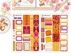 5 Gorgeous Fall Sticker Kits You Need for Your Planner 2018 Cute Planner, Planner Supplies, Strong Love, Love Stickers, Erin Condren, Washi Tape, Pens, Shops, Printables