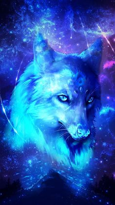 Galaxy Wolf Love will find a way through paths where wolves fear to prey. Tier Wallpaper, Wolf Wallpaper, Animal Wallpaper, Blue Galaxy Wallpaper, Emoji Wallpaper, Trendy Wallpaper, Wallpaper Desktop, Disney Wallpaper, Wallpaper Quotes