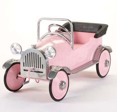 Gingersnaps Kids Boutique - Pretty Pink Princess Pedal Car, $219.00 (http://www.gingersnapskids.com/products/pretty-pink-princess-pedal-car.html)
