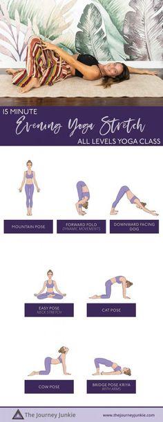 15 Minute Evening Yoga Stretch to End Your Day Yoga Inversions, Vinyasa Yoga, Yoga Sequences, Yoga Arm Balance, Bedtime Yoga, Gentle Yoga, Advanced Yoga, Yoga For Flexibility, Yoga At Home