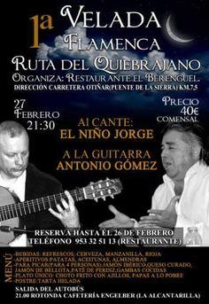 """Velada flamenca para promocionar la """"Ruta del Quiebrajano"""""""