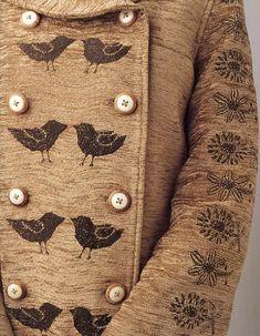 Minä Perhonen embroidered fabric