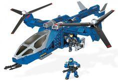 Halo Mega Bloks | Halo Mega Bloks Blue Series Falcon 97204 Set