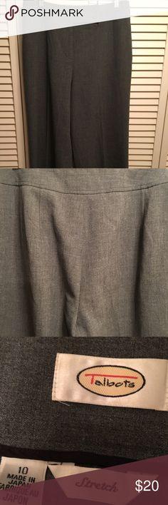 Talbots's Charcoal Dress Pants Euc inseam 29 Talbots Pants Straight Leg