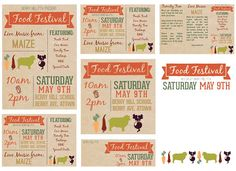 garden party published pta templates and poster kits booster