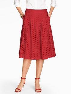 Eyelet Pleated Skirt - Talbots - SB Apr 2016