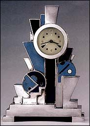 A 1928 clock by the French designer Jean Goulden.  Kubisme