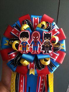 Superhero Baby Shower Corsage on Etsy, $25.00