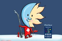 Official Mascot Ski World Championship 2003 in St. Moritz Switzerland   Logo Design, Character Design, Mascot Design, Corporate Identity and Branding   by independent illustrator and designer Ian David Marsden. Please visit my portfolio. http://marsdenillustration.com/portfolio/logo-characters/  #illustrator #artist #freelance #independent #experienced #illustration #portfolio #Marsden #advertising #branding #business  #corporate #design  #illustration #logo
