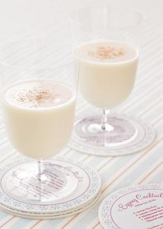 eggnog cocktail! perfect for a winter wedding