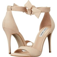 Steve Madden Bowwtye (Blush Nubuck) Women's Shoes ($65) ❤ liked on Polyvore featuring shoes, pink, fancy shoes, pink open toe shoes, steve madden footwear, pink dressy shoes and high heel shoes