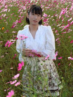 Cosmos season in Japan | Mayuko Yoshida | Flickr Vintage Style Dresses, Cosmos, Lace Skirt, Vintage Fashion, Flower Girl Dresses, Japan, Seasons, Lady, Wedding Dresses
