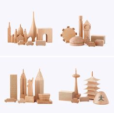 wooden block cities