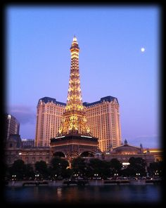The Paris at dusk, Las Vegas, Nevada