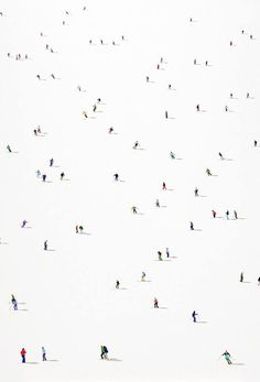 Beautifully uncrowded paintings of crowds by London-based artist Stephanie Ho