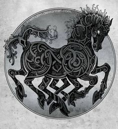 Sleipnir by SceithAilm. In Norse mythology, Sleipnir is an eight-legged horse. Sleipnir is attested in the Poetic Edda, compiled in the 13th century from earlier traditional sources, and the Prose Edda, written in the 13th century by Snorri Sturluson. In both sources, Sleipnir is Odin's steed, is the child of Loki and Svaðilfari, is described as the best of all horses, and is sometimes ridden to the location of Hel.