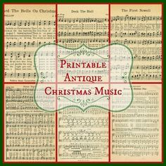 Vintage Furniture Free Printable Sheet Music from Knick of Time - Free printable antique Christmas music pages for Christmas projects, crafting, scrapooking, or just print and frame them! From Knick of Time. Christmas Sheet Music, Noel Christmas, Homemade Christmas, Music Christmas Ornaments, Christmas 2019, Musical Christmas Gifts, Musical Christmas Decorations, Free Christmas Music, Sheet Music Ornaments