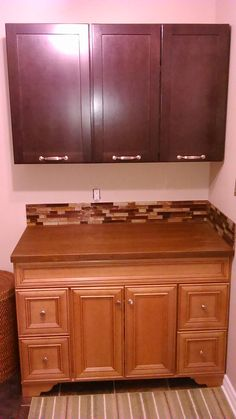 Laundry room set up, Bamboo countertop, after Bamboo Countertop, Countertops, Room Set, Laundry Room, Kitchen, House, Home Decor, Vanity Tops, Cooking