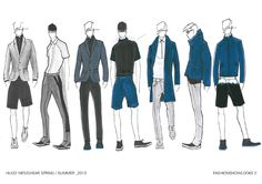 HUGO Men Spring/Summer 2013 sketches by Bart de Backer