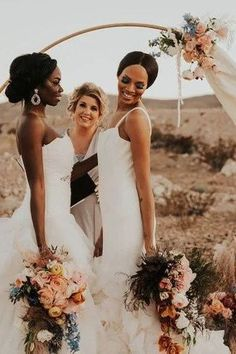 Romantic lesbian wedding photo at their wedding ceremony | Utterly Romantic Las Vegas Desert Elopement Inspo - Love Inc. Mag -JAMIE Y PHOTOGRAPHY Lesbian Wedding Photos, Romantic Wedding Photos, Romantic Updo, Bride Look, Bridesmaid Dresses, Wedding Dresses, Equality, Love Story, Wedding Ceremony