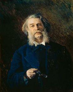 Ge Portrait Leo Tolstoy Writing Painting Large Canvas Art Print