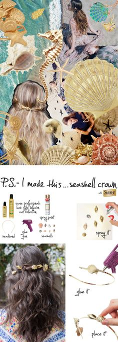 Seashell Crown. Must make this for Jamaica!