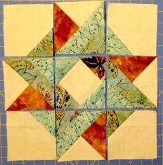 This is an awesome star block ready to sew together