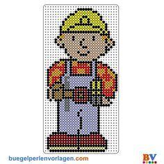 Bob der Baumeister Bügelperlen Vorlage