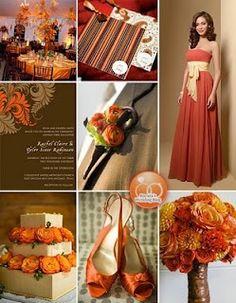 Wedding Proposal | Wedding Planning and Tips: Burnt Orange Bridesmaid Dresses