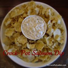 Crock-Pot Salmon Dip->can use reduced fat cream cheese and not-canned salmon