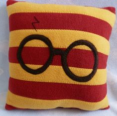 Wizard Glasses Throw Pillow 12x12 PLACE YOUR by AnitaKleinDesigns, $22.00