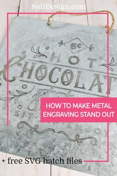 To engrave metal with the engraving tip of the Cricut Maker can leave you disappointed if you don't use these tips and tricks to enhance your design. Use hatches to fill your design and a product to darken your aluminum engraving and your project will stand out. #makertips #engraving Bee Crafts, Crafts To Sell, Easy Crafts, Diy And Crafts, How To Make Metal, How To Make Diy, Aluminum Can Crafts, Metal Engraving, Craft Night