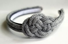 Knit Nautical Knot Headband - Silver Grey. $20.00, via Etsy.